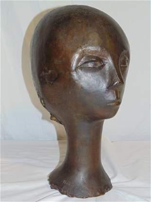 "ANDRE MINAUX (Fr. 1923-1986) BRONZE HEAD 16 1/2"" High"