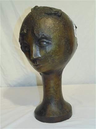 "ANDRE MINAUX (Fr. 1923-1986) BRONZE HEAD 17 1/2"" High"