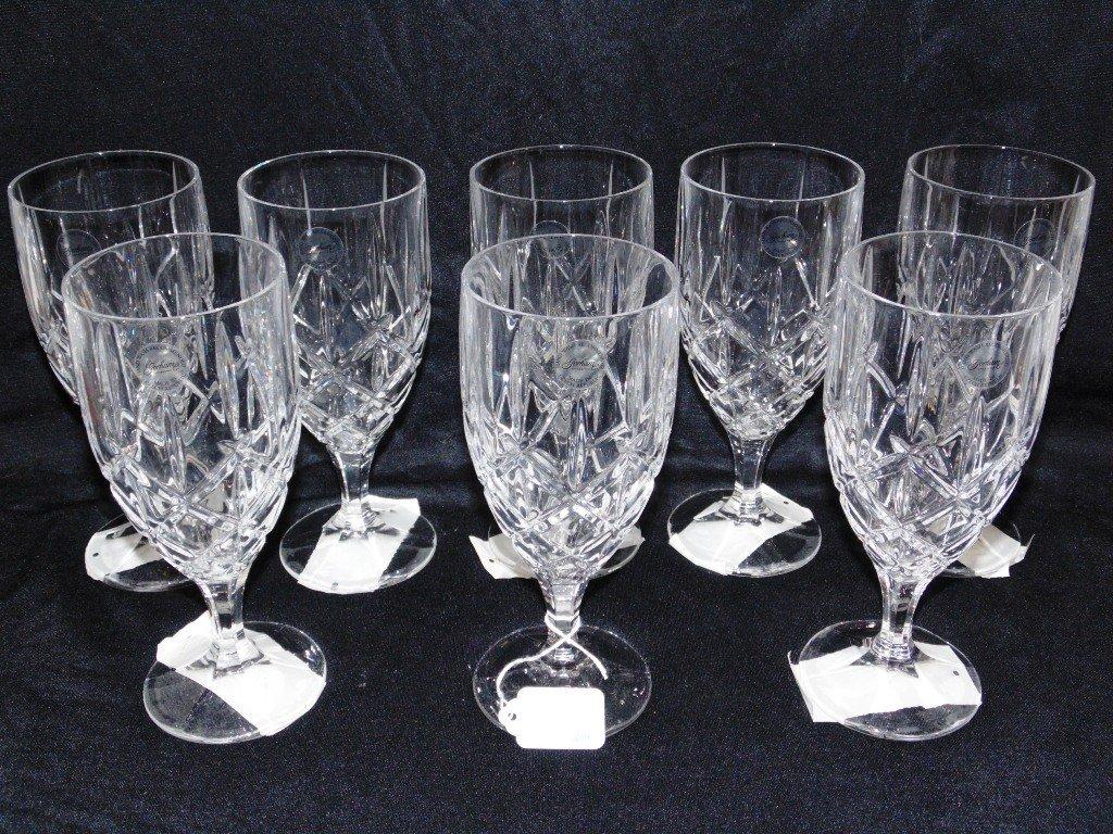"8 Gorham Crystal LADY ANNE 7 5/8"" Iced Tea Goblets ""NEW - 2"