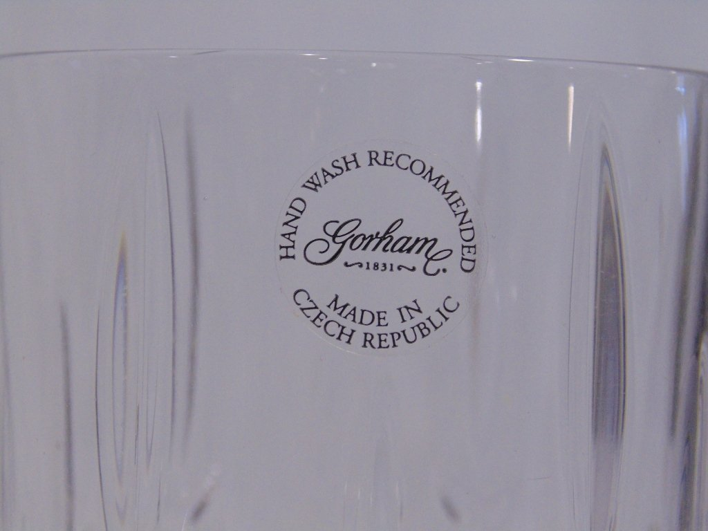 "8 Gorham Crystal LADY ANNE 7 5/8"" Iced Tea Goblets ""NEW - 4"