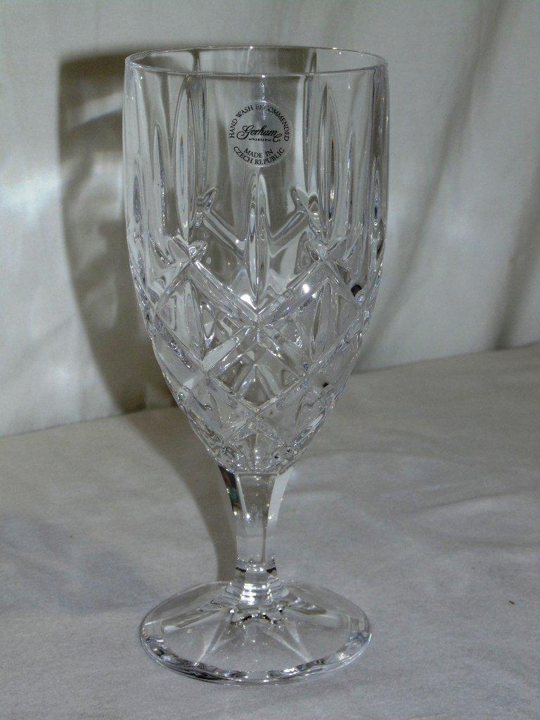"8 Gorham Crystal LADY ANNE 7 5/8"" Iced Tea Goblets ""NEW - 5"