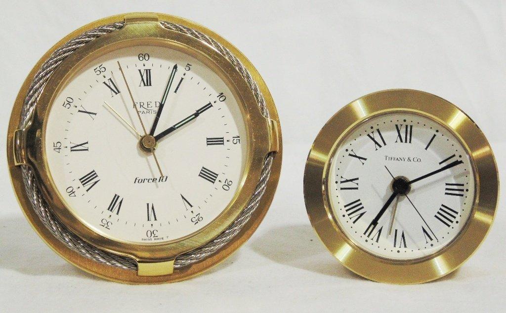 Fine Fred Paris & Tiffany & Co. Desk Clocks