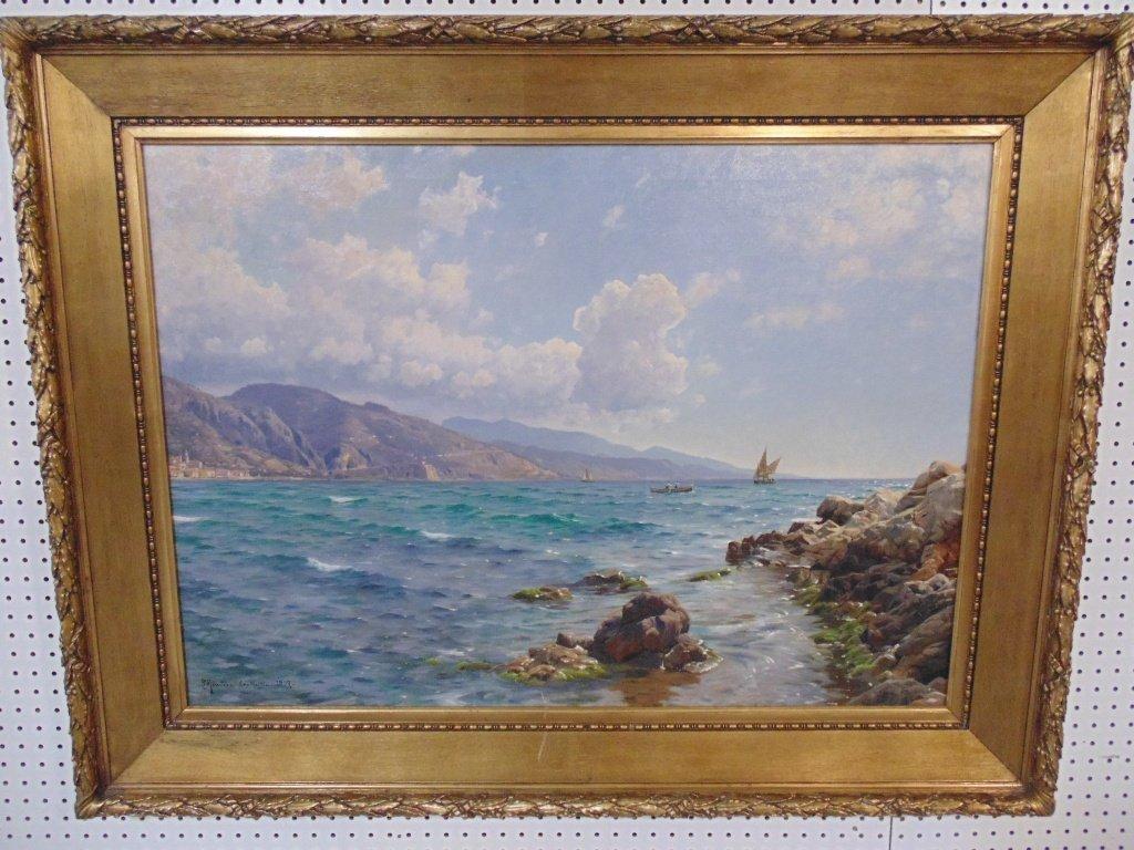 Peder Mork Monsted (Denmark 1859 -1941) O/C, Cap Martin