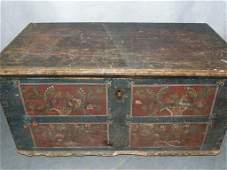 18/19th C. Pennsylvania Hand Painted Blanket Chest