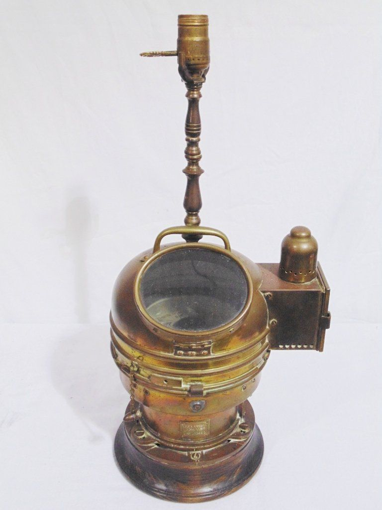 Vintage Brass Cased Ships Compass