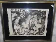 Willem de Kooning  (1904 - 1997) Signed Lithograph