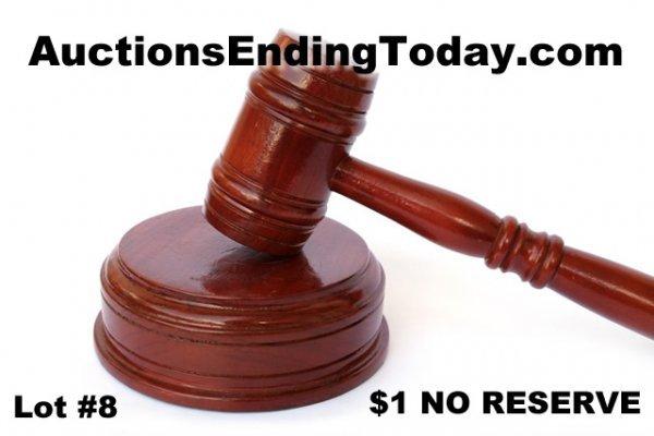 8: AuctionsEndingToday.com COME TO THE LIVE AUCTION NR