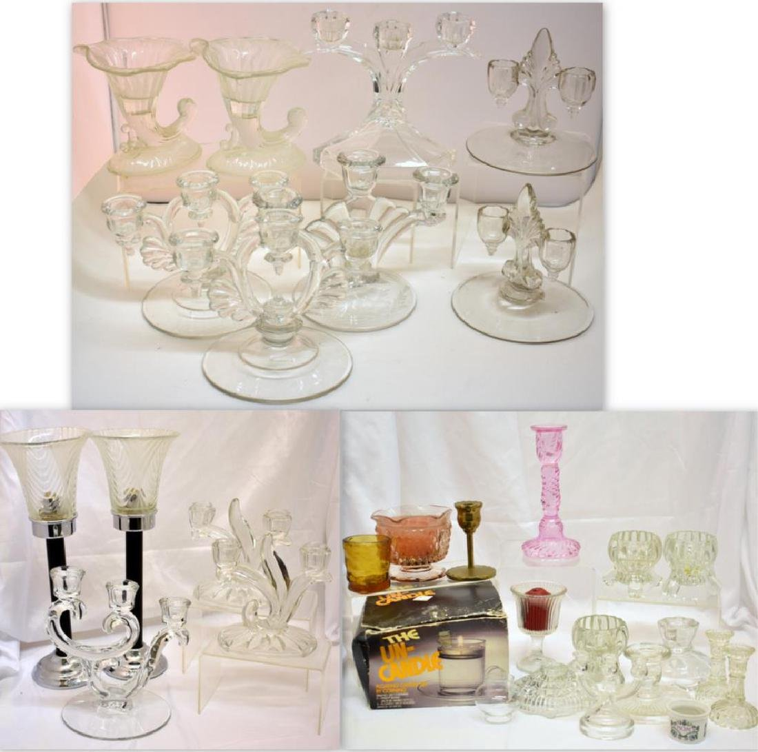 ASSORTED CANDLE HOLDERS & MORE