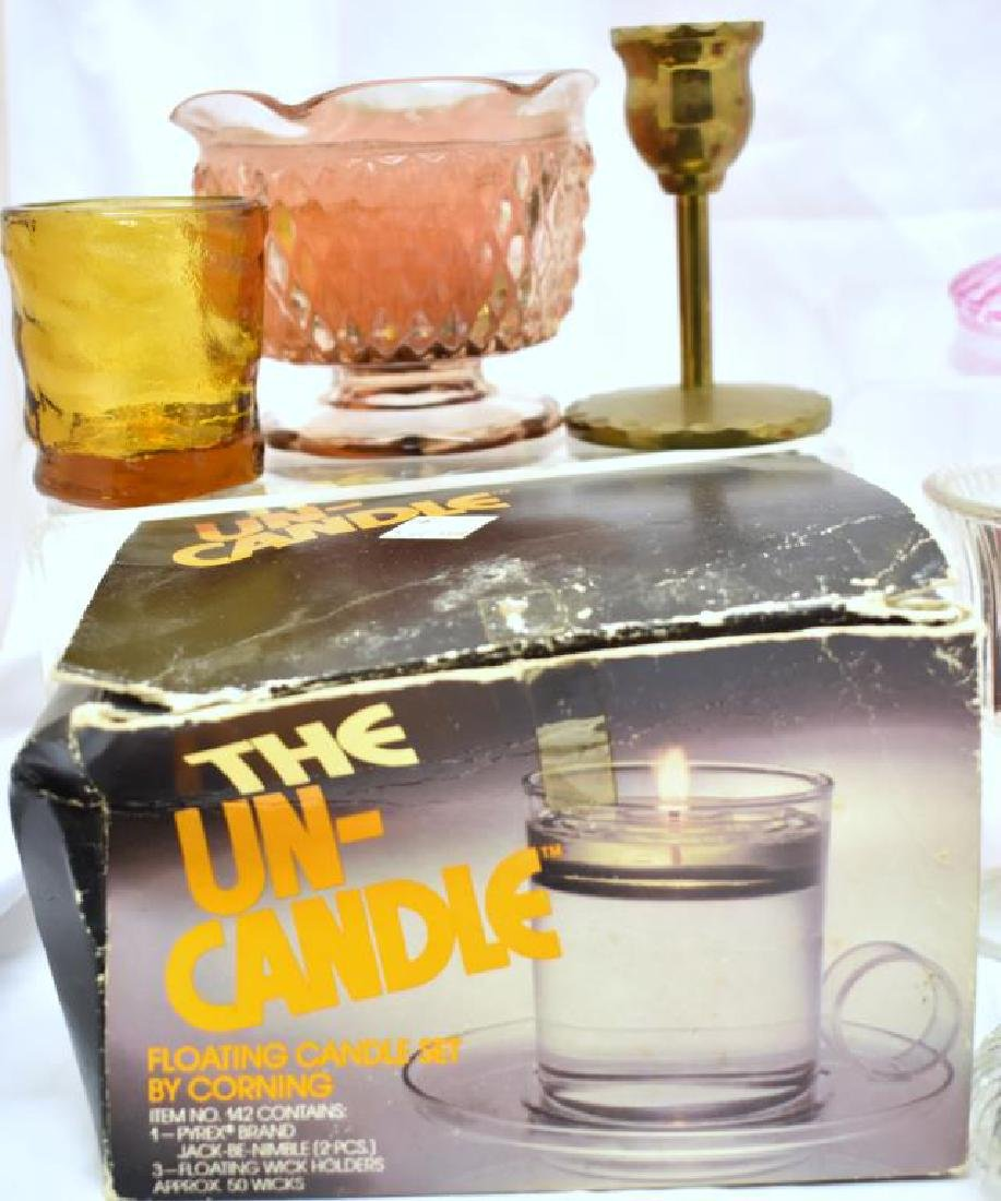 ASSORTED CANDLE HOLDERS & MORE - 8
