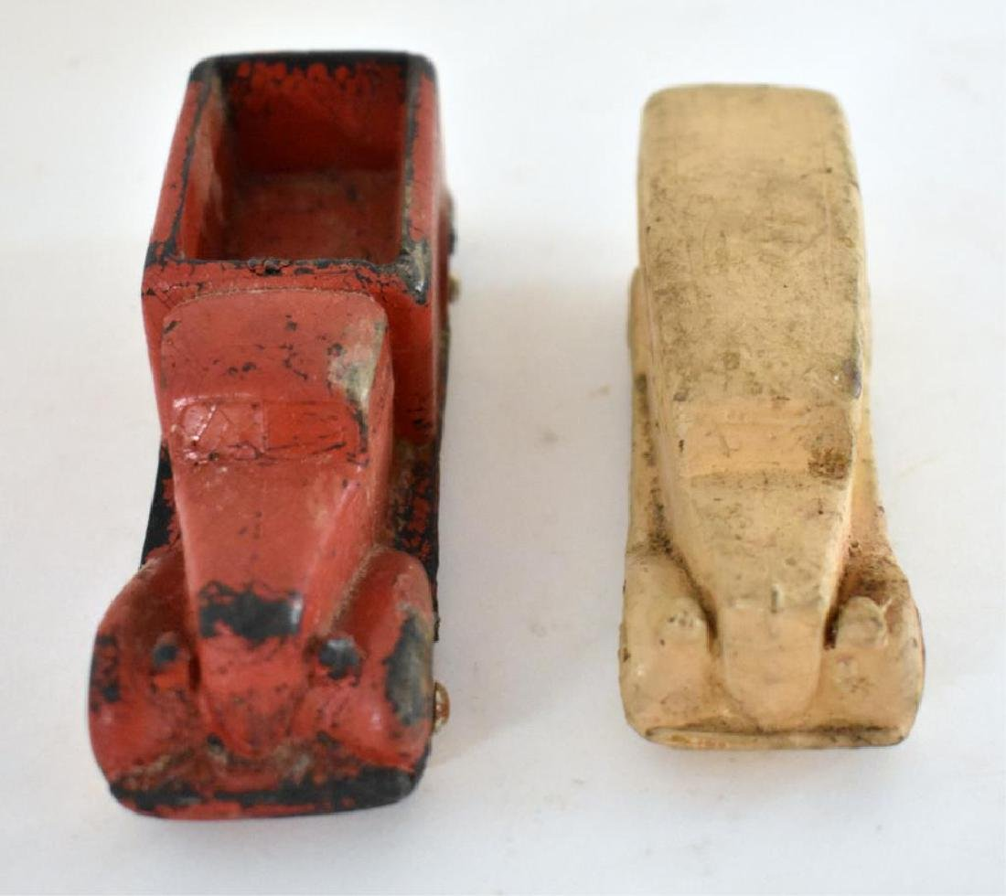 TWO ANTIQUE RUBBER TOY VEHICLES - 2