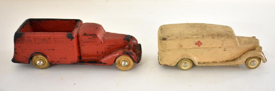 TWO ANTIQUE RUBBER TOY VEHICLES - 3