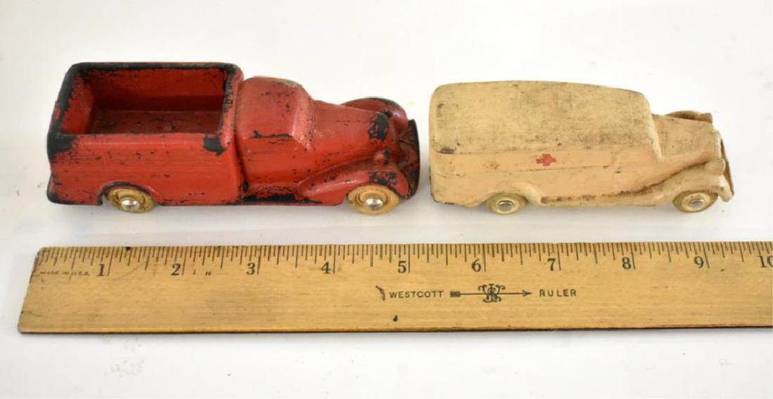 TWO ANTIQUE RUBBER TOY VEHICLES - 4