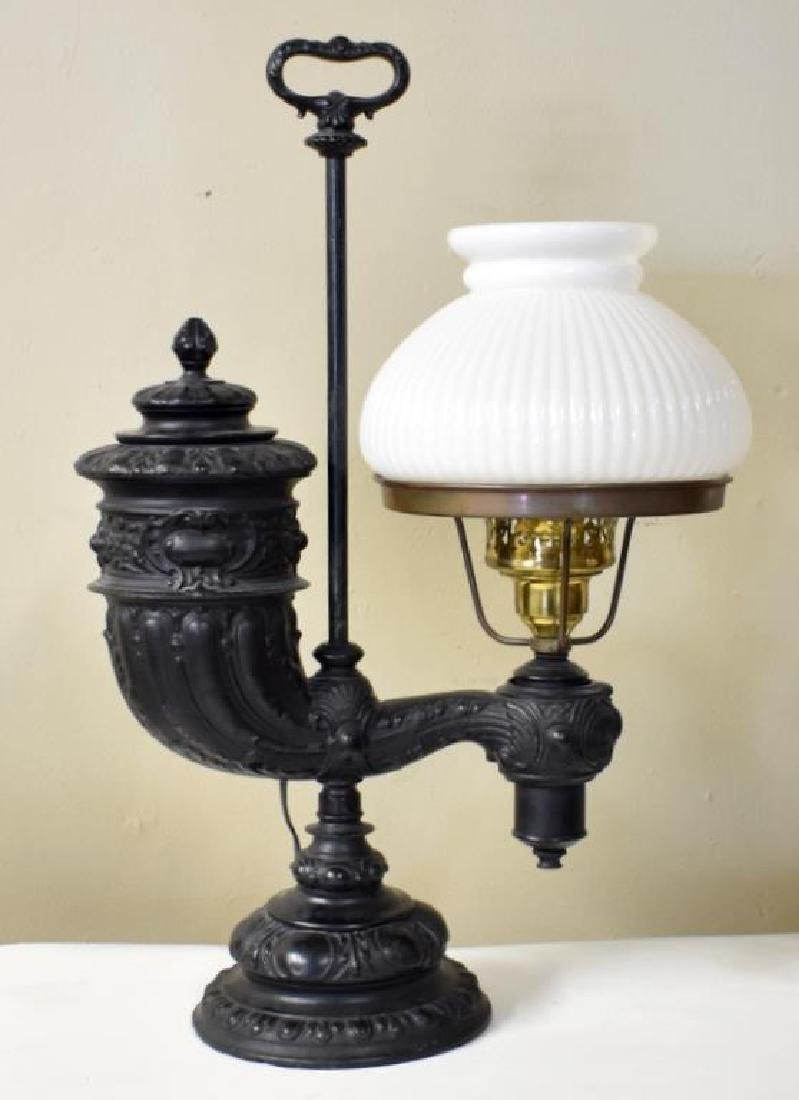 VICTORIAN CAST IRON STUDENT LAMP