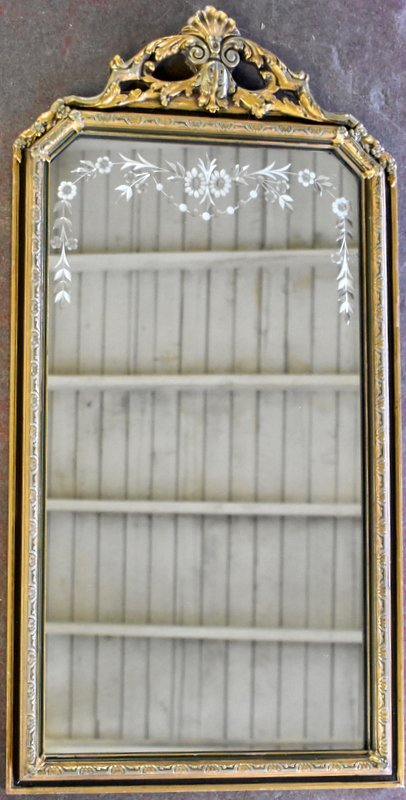 1920s PERIOD GOLD FRAMED MIRROR