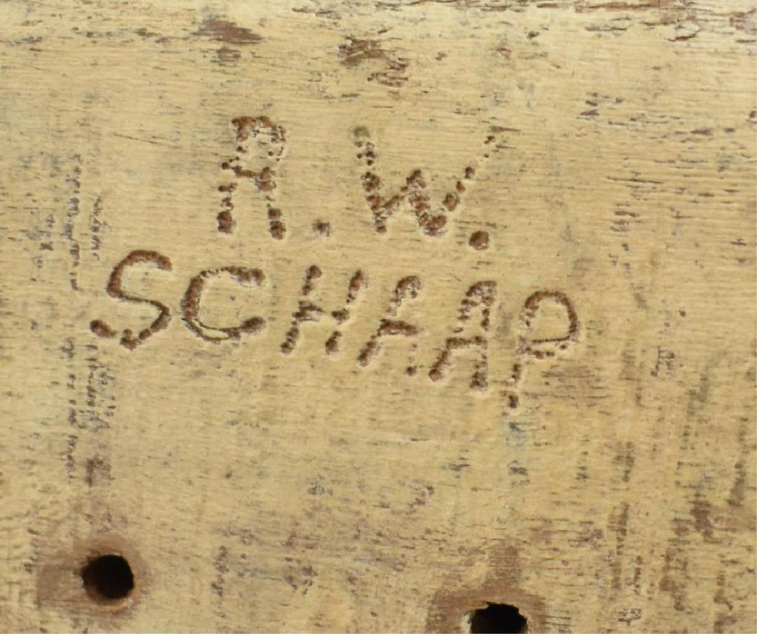 R.W. SCHAAP SIGNED WOODEN DUCK DECOY - 6