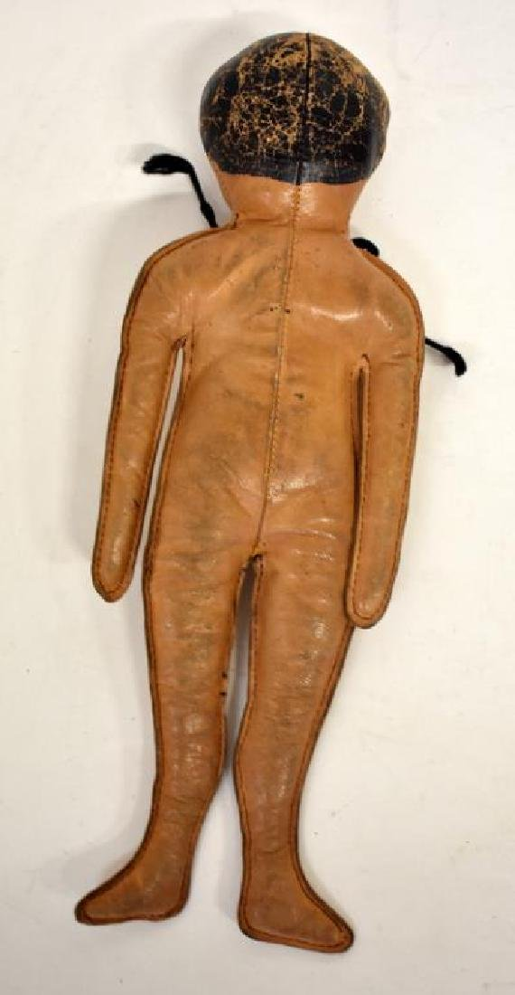 CIRCA 1900 LEATHER INDIAN DOLL - 2