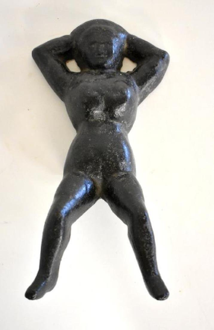 """ANTIQUE CAST IRON """"NAUGHTY NELLIE"""" BOOT JACK - 2"""