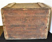 CHIPPEWA SPRING WATER ADVERTISING WOODEN CRATE