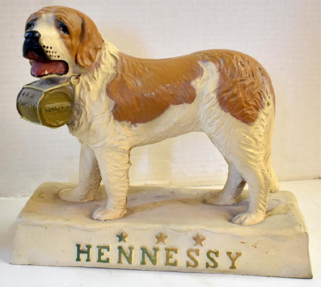 FIGURAL HENNESEY WHISKEY BACK BAR DISPLAY