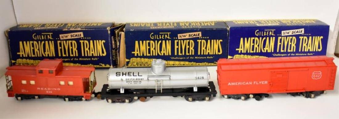 POST WAR AMERICAN FLYER HUDSON FREIGHT SET - 6