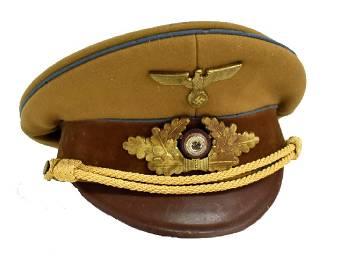 WWII NAZI POLITICAL LEADER'S VISOR CAP