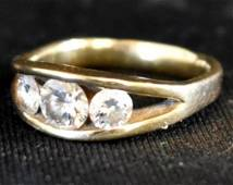 HAND-CRAFTED 14k GOLD & DIAMOND RING