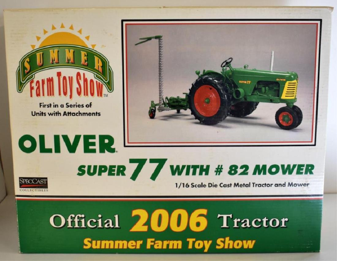 OLIVER SUPER 77 MODEL TOY TRACTOR WITH #82 MOWER
