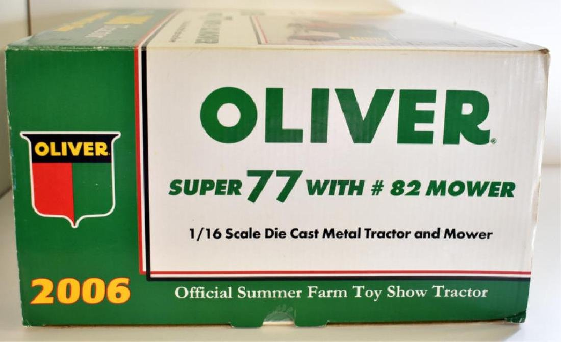 OLIVER SUPER 77 MODEL TOY TRACTOR WITH #82 MOWER - 2