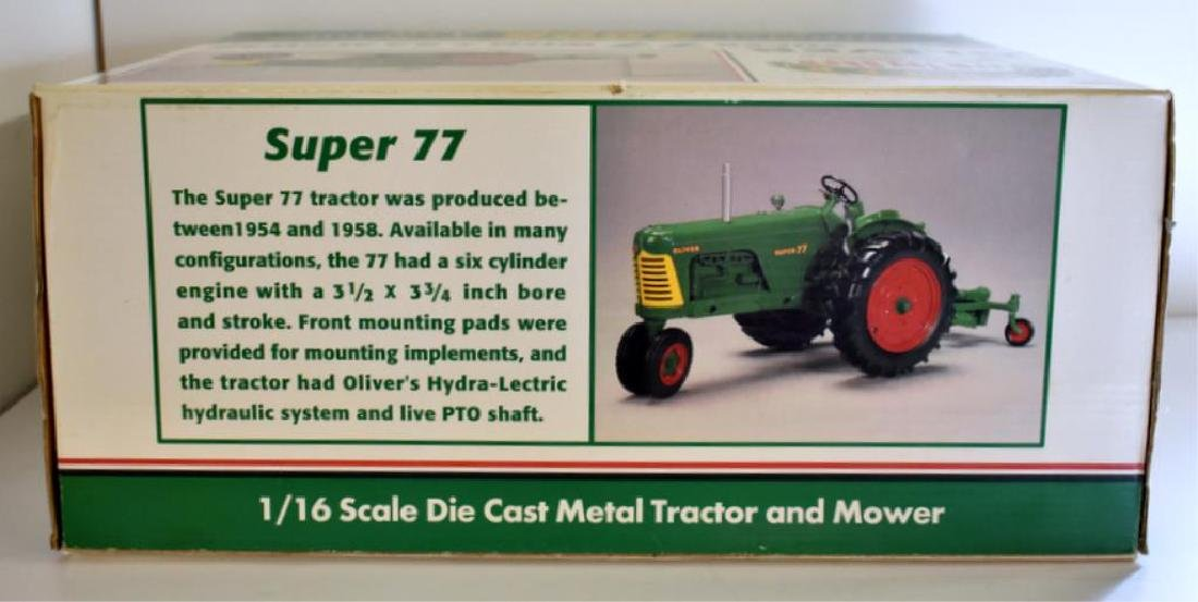 OLIVER SUPER 77 MODEL TOY TRACTOR WITH #82 MOWER - 3