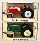 TWO ERTL 125 SCALE DIE CAST TRACTOR MODEL TOYS