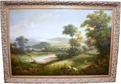 GRAND LANDSCAPE OIL PAINTING BY HUMPHREY (SH SONG)