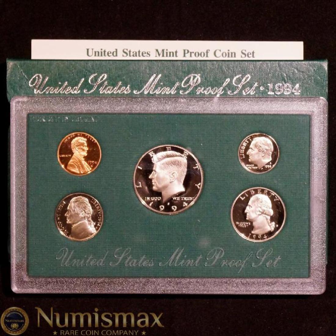 FOUR 1990s US MINT PROOF SETS - 10