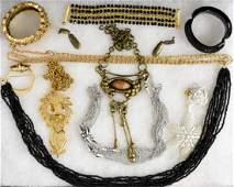 ASSORTED MID-CENTURY COSTUME JEWELRY
