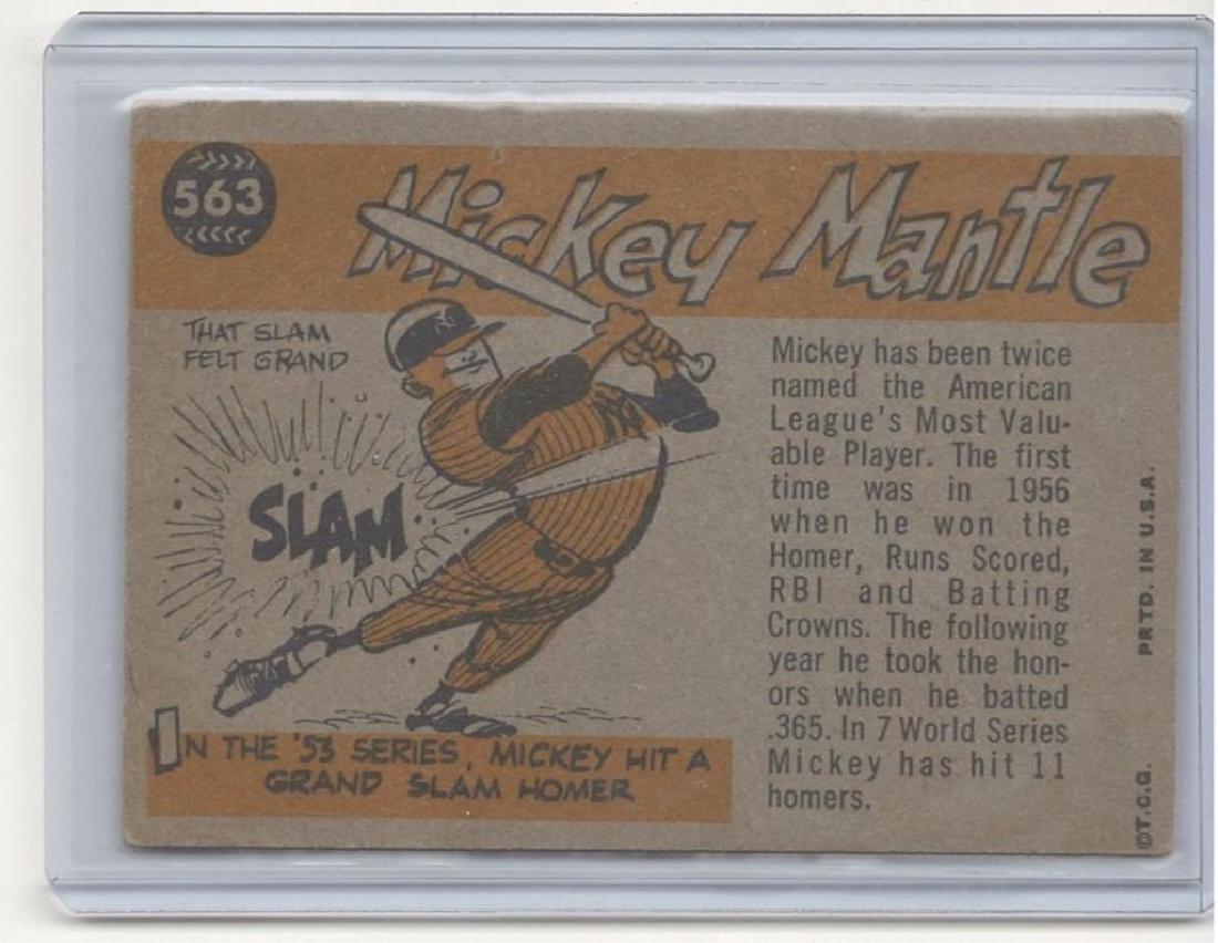 1960 TOPPS MICKEY MANTLE BASEBALL TRADING CARD - 2