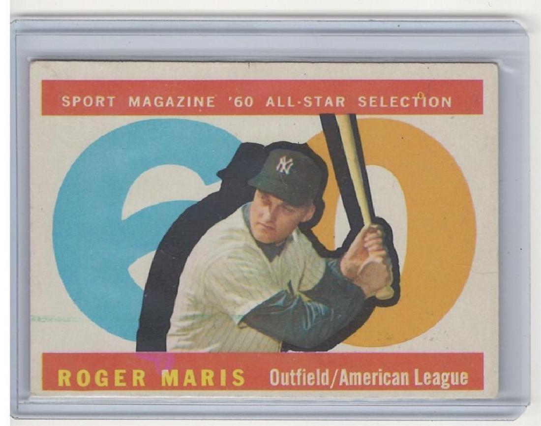 1960 TOPPS ROGER MARIS BASEBALL TRADING CARD