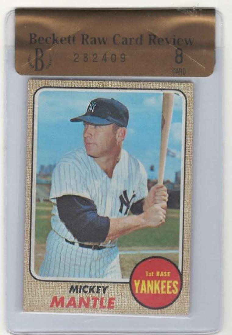 1968 Topps Mickey Mantle Baseball Trading Card