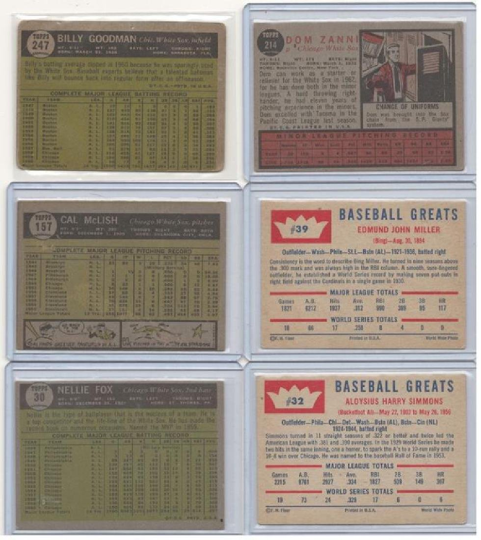 ASSORTED 1960s BASEBALL TRADING CARDS - 5