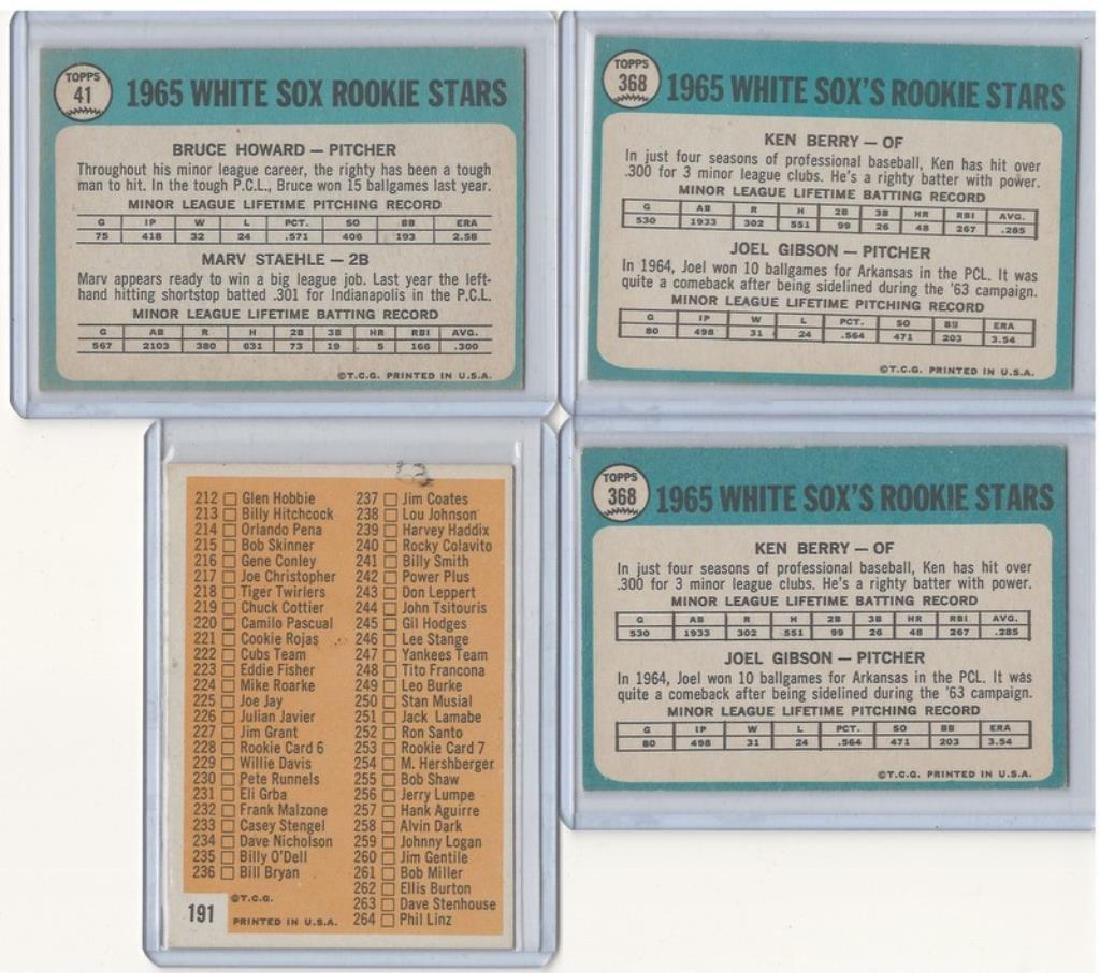 ASSORTED 1960s BASEBALL TRADING CARDS - 8