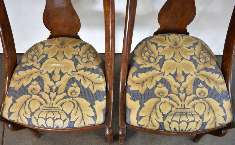 PAIR OF VICTORIAN WALNUT SIDE CHAIRS - 3