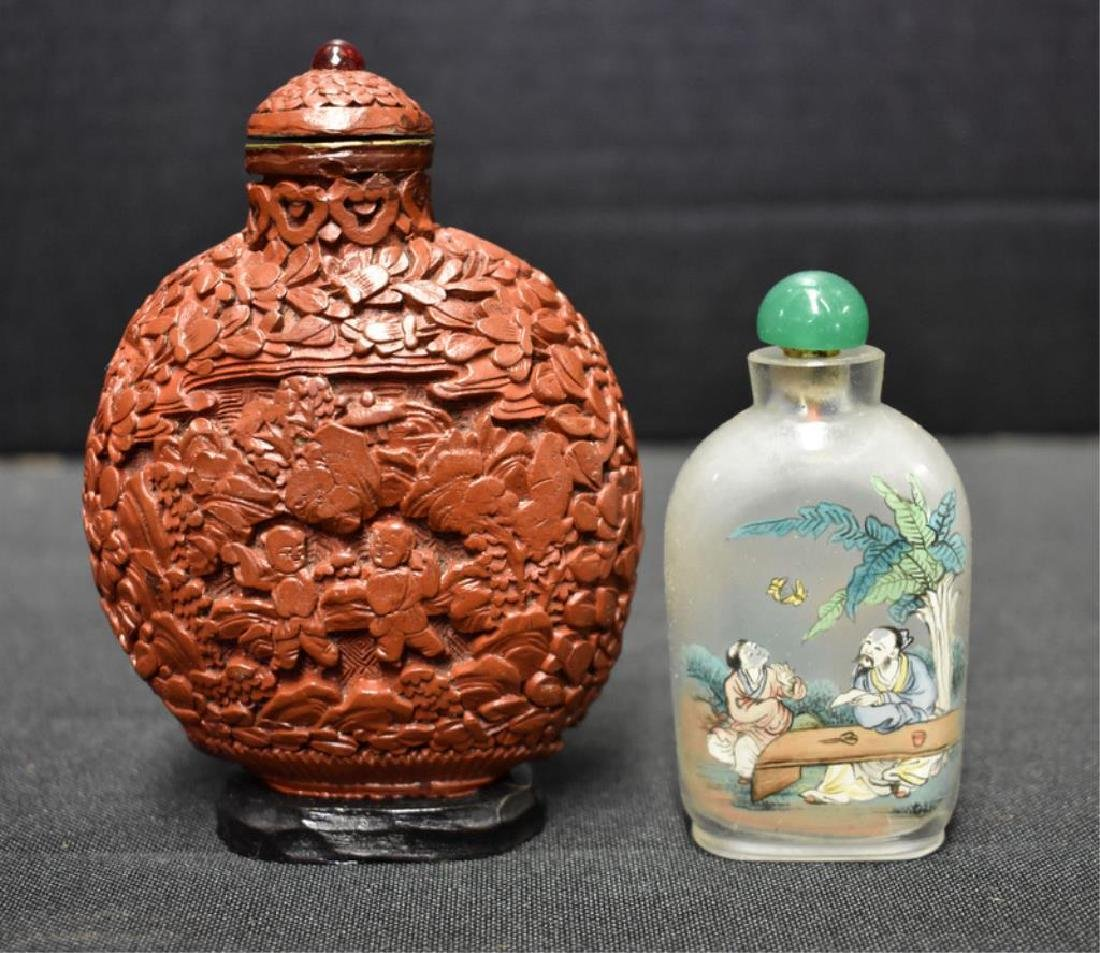 ASSORTED SNUFF AND PERFUME BOTTLES - 2
