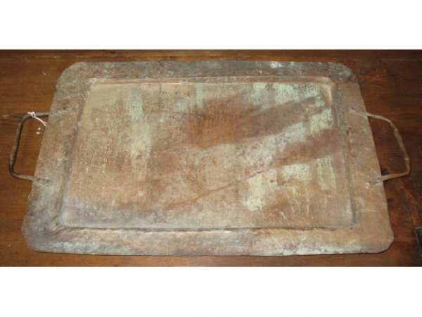 1015: Hammered Copper Tray