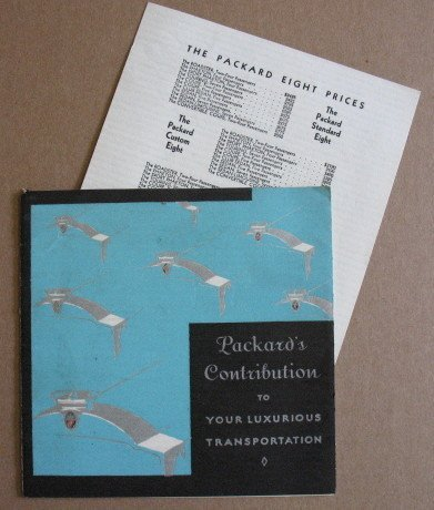 1081: Packard Car Manual with Prices
