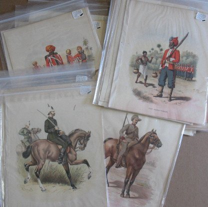 1082: Box Lot Victorian Military Prints