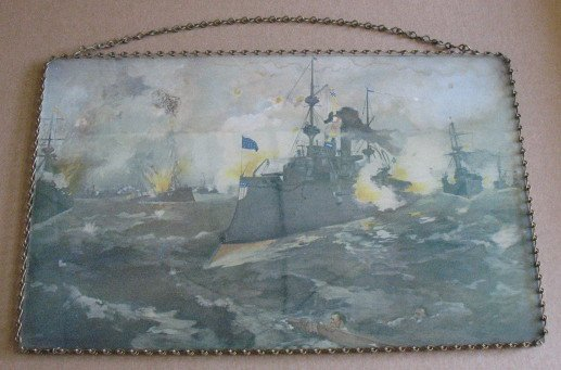 1085: Flue Cover Navy Scene