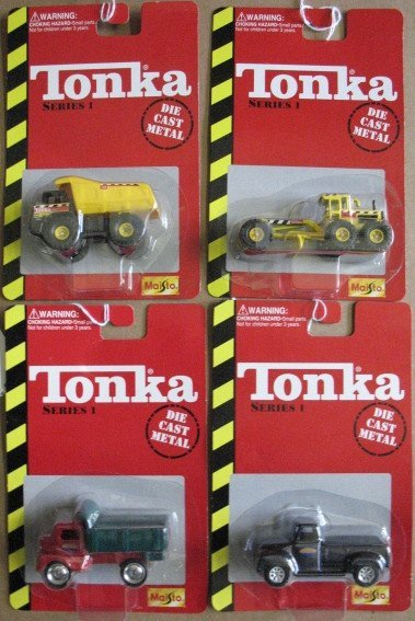 1105: 4 Tonka Die Cast Cars