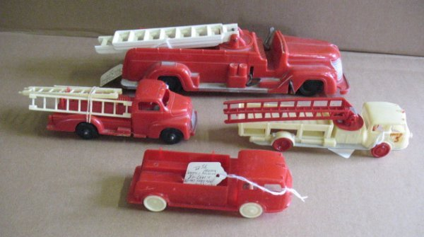 1114: Plastic Fire Trucks