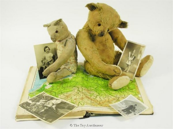 15: `Petsy', a Steiff Teddy Bear and another smaller