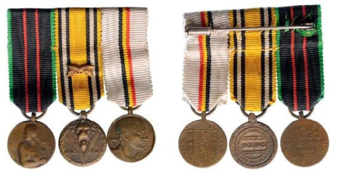 Medal Bar with 3 Decorations