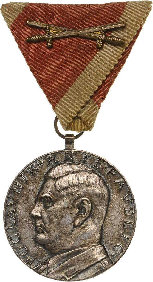 ANTE PAVELIC BRAVERY MEDAL, instituted in 1941