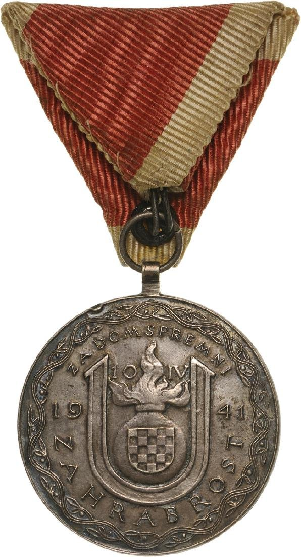ANTE PAVELIC BRAVERY MEDAL, instituted in 1941 - 2